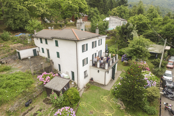 About Boggi House aerial front view
