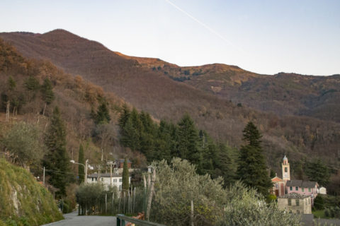 Boggi House and the view of the mountains at Semovigo